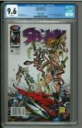 Spawn 9 - Cgc 9.6 - Newsstand - 1st Appearance Of Angela And Medieval Spawn