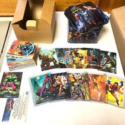 1992 Marvel Masterpieces Tin W/ Complete Base Set, Battle Spectra And Promo Cards