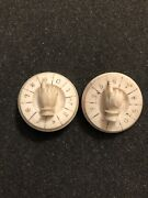 Antique 19th C Whist Game Player Spinners For Gambling Hand Carved Bone