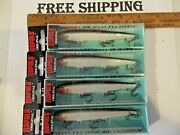 Rapala Original Floating 11's= 4 Silver Colored Fishing Lures-f11 Jerkbaits