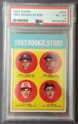 1963 Topps Pete Rose Rookie Stars 537 Psa 4 Rc Perfect Centering