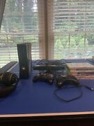 Microsoft Xbox 360 With Kinect 2 Controllers Headset And Games