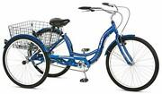 Schwinn Meridian Adult Tricycle With 26-inch Wheels In Blue, With Low Step-throu