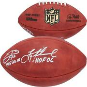 Emmitt Smith And Troy Aikman Dallas Cowboys Signed Wilson Football And Hof Inscs