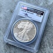 2013 American Silver Eagle 1 Pcgs Proof Pf 70 First Strike Mercanti Signature
