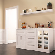 Home Wine Bar Cabinet 5-piece Set With Display Shelf By Newage Products