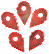 5 Talhakimt Trade Bead Pendant Red Glass African