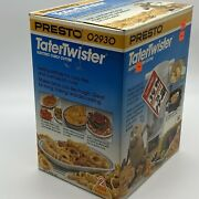 1990 Vintage Presto Tatertwister Electric Curly French Fry Potato Cutter Nib