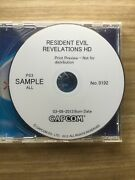 Playstation 3 Ps3 Resident Evil Revelations Preview Sample Demo Prototype Disc