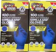 2 Boxes Grease Monkey Heavy Duty Large Disposable Nitrile Gloves, 200 Ct