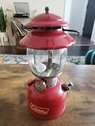 Red 67 Coleman Model 200a Single Mantle Lantern Sunshine Of The Night Vgc