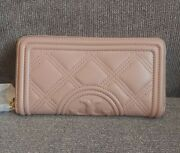 Quilted Leather Fleming Soft Zip Continental Wallet Nwt 248