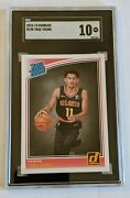 2018-19 Trae Young 198 Donruss Rookie Sgc 10 Ln