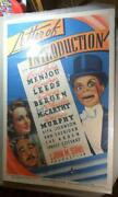 Letter Of Introduction 1938 Original One Sheet Movie Poster Charlie Mccarthy