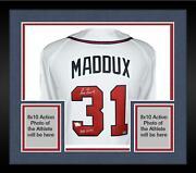Frmd Greg Maddux Braves Signed Mandn White 1995 Authentic Jersey And Hof 2014 Insc