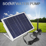 1350l/h Solar Power Panel Kit Fountain Pool Pond Garden Submersible Water Pump