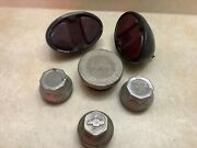 Lot Auto Truck Lamp Tail Stop Light Chevrolet Hub Grease Caps Chevy Vintage