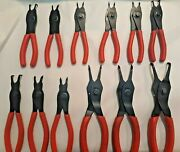 Snap-on Usa Srpc112 Red Handle 12 Pc Retaining Snap Ring Pliers Set