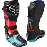 Black/orange/pink/teal Sz 9 Fox Racing Instinct Pyre Limited Edition Boots