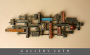 Monumental Abstract Modernist Wall Sculpture Brutalist Perspex And Copper 1960s