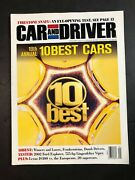 Car And Driver 10 Best Cars 19th Annual Jan. 2001 Collectible Auto Magazine X25