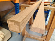 Oak Stair Handrail And Base Rail Suitable For Glass - Select Length And Type