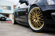 """4x Genuine Simmons 20"""" Gold Om-1 Vf Ve Staggered Lip Wheels And New Tyres Vz Vy"""