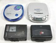 Vintage Portable Cassette And Cd Players Sony Discman, Panasonic, Ge - Lot Of 4