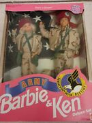 1992 Stars N Stripes Army Barbie And Ken Deluxe Set Mattel Dolls Toy 5626 Nrfb