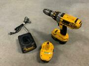 Dewalt Dc925 18v 1/2 Cordless Hammer Drill W/ 2 Battery And 1 Charger