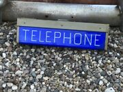 Original Vintage Double Sided Telephone Phone Booth Sign Display Collection Old