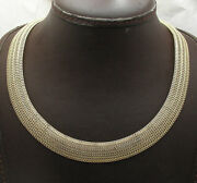 14mm Wide All Shiny Domed Mesh Style Curb Chain Necklace Real 14k Yellow Gold