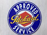 Packard Service Porcelain Metal Sign 12andrdquo Gas And Oil Garage Gas Station Sign