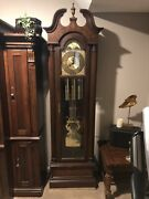 Vintage Trend Grandfather Clock By Sligh Clock Company Beautiful Working Clock