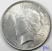 1925 Peace Silver Dollar Coin Unsorted Ungraded Estate Collection Very Nice 5