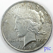 1924 Peace Silver Dollar Coin Unsorted Ungraded Estate Collection Very Nice