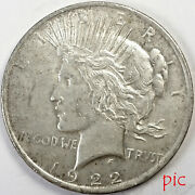 1922 Peace Silver Dollar Coin Unsorted Ungraded Estate Collection Very Nice 7