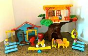 Vintage 1975 Weebles Tree House Lot Hasbro Disney Clubhouse Set Of 2