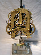 Restored Ansonia 5 1/2 Wide Clock Movement Cleaned And Serviced