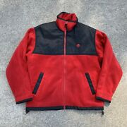 Herman Miller Furniture Fleece Jacket Mens Small Red Used Embroidered