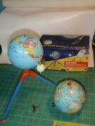 Vintage Gama Zooming Satellite With Box  Tin Toy D.p. Ang Western Germany