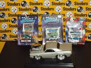 4 Muscle Machines Die Cast Cars 3 164 70's Cuca And 1 118 Pontiac Gto 1966