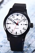 Fortis Watch B-42 Automatic Day-date White X Black 655.18.12k Automatic W/ Box