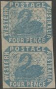 Western Australia Sg 3y No Line Above Ge Of Postage And Line Under Fou Of Four.