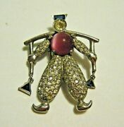Dujay Vintage 1930s Dutch Boy Carrying Water Fur Clothing Pin Clip Pink Jelly