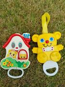 2x Vintage Cot Baby Toys Musical Moving 1980s Matchbox Teddy Kiddicraft House