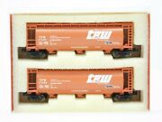 Z Full Throttle Wdw 1043 Set 1 Tpw Toledo Peoria And Western 3-bay Hopper 2-pack