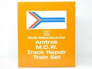 N Scale Nsc N Scale Collector Amtrak Mow Wrecker Train 6-car Set W/diesel And Dcc