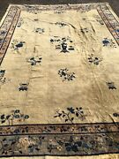 Antique Oriental Rug - Chinese - 10x14 - Art Deco - Hand Knotted - Wool