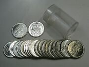 Roll 20 Coins Bu 1966 Silver 50¢ Fifty Cent Canada. 4